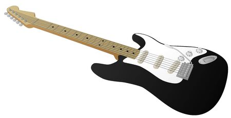 Electric Guitar (Black) Illustration