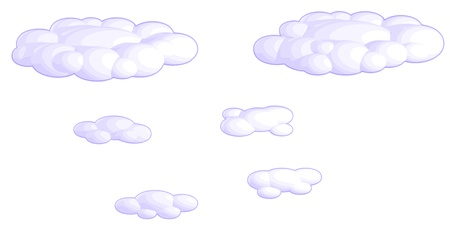 A set of clouds (2 large and 4 small). Stock Vector - 15658937