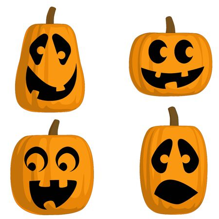 jack o: A set of 4 Jack O Lanterns (Silly)