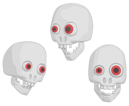 Skulls (Human for Halloween etc). Vector