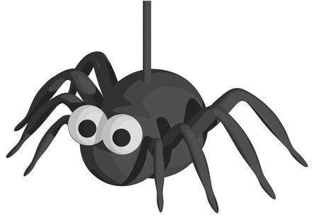 Spin van Halloween Stock Illustratie