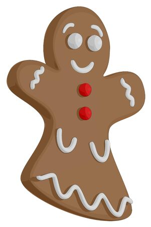 Gingerbread Woman Vector