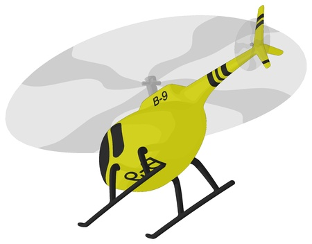 Helicopter (in flight) Illustration