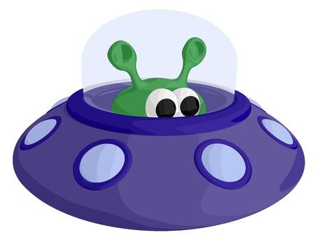 arrive: UFO Illustration