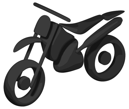 dirt bike: Dirt Bike (Shaded - Silhouette) Illustration