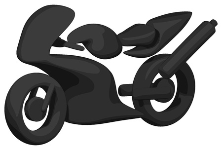 Sport Bike (Shaded - Silhouette)