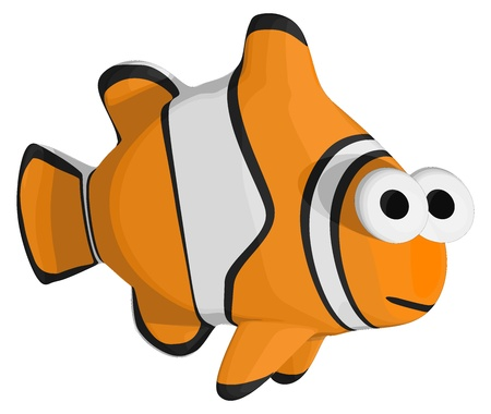 Tropical Clown Fish Illustration