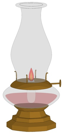 Oil Lamp isolated on a white background.