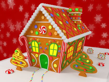 gingerbread: GingerBread House Stock Photo