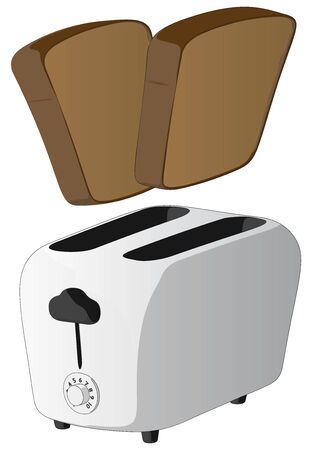 Toaster -  Vector Artwork  isolated on white background