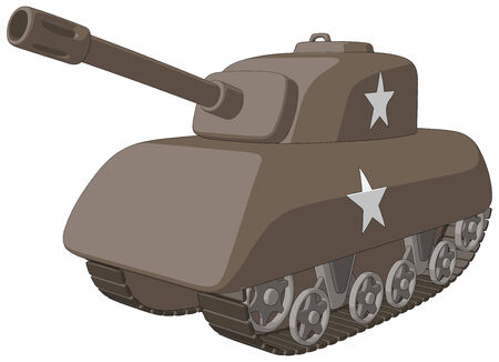 Tank  WW2  -  Vector Artwork  isolated on white background