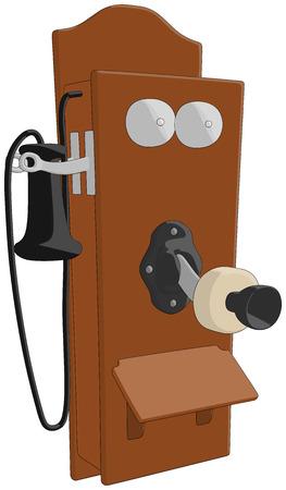 Telephone  Old  -  Vector Artwork  isolated on white background   Illusztráció