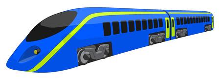 High Speed Train -  Vector Artwork  isolated on white background   Vettoriali