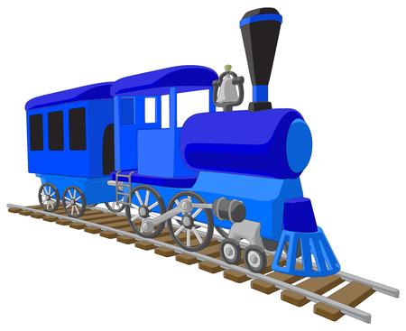 Locomotief - Vector Kunstwerk op een witte achtergrond