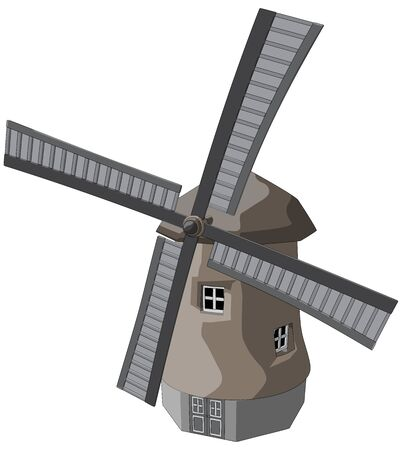 Windmill -  Vector Artwork  isolated on white background
