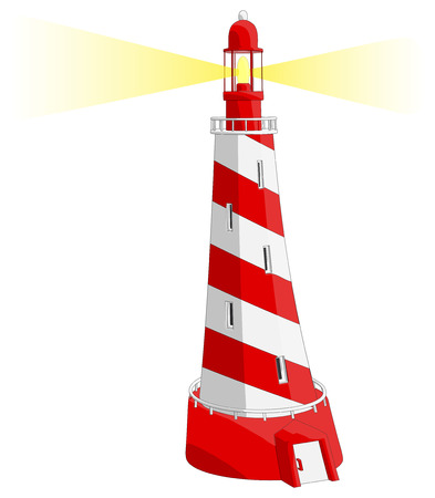 Light House -  Vector Artwork  isolated on white background   Illusztráció