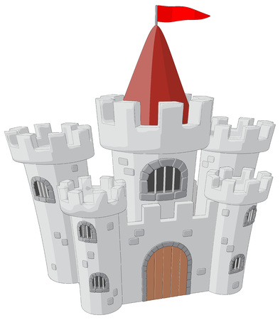scalable: Castle -  Vector Artwork  isolated on white background