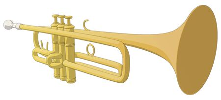 Trumpet -  Vector Artwork  isolated on white background