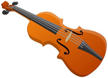 바이올린 - 흰색 배경에 고립 된 벡터 아트웍 일러스트