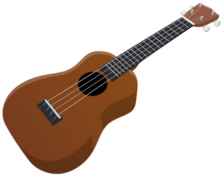 ukulele: Ukulele -  Vector Artwork  isolated on white background   Illustration