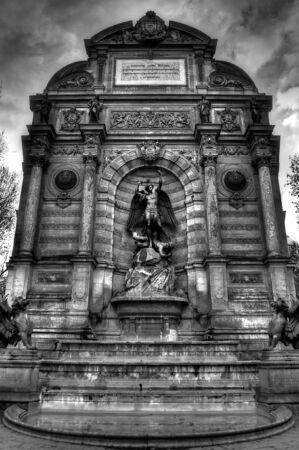 Saint Michel Fountain - Paris, France  photo