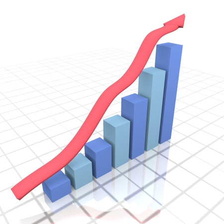 finacial: Business Growth Stock Photo