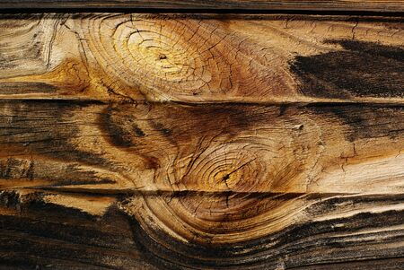 breakage: Old rough, boards background with knots. Stock Photo