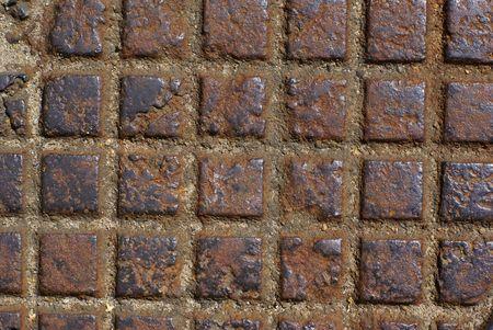 Background - rusty metal checker. Stock Photo - 1261184