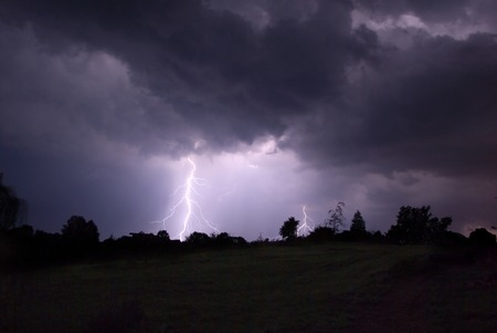 Thunderstorm in Poland - 08.2007  photo