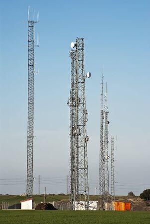 bandwith: Antennas Stock Photo