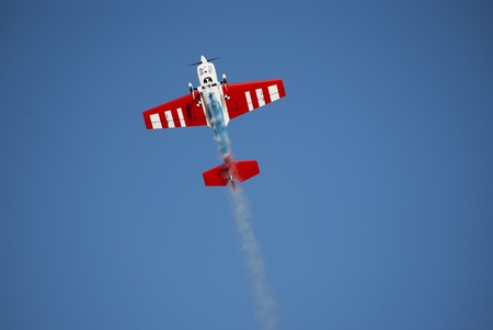 aerobatic: Nice looking aerobatic remote control airplane with smoke
