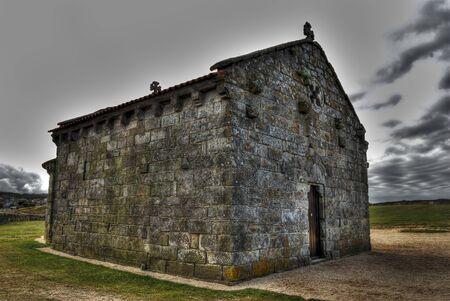 galizia: L'eremo piccola di A Lanzada, Galizia, Spagna Archivio Fotografico