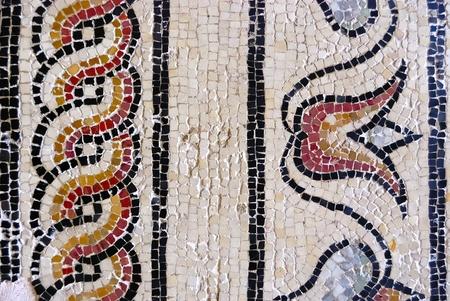 mosaic floor: Roman mosaic