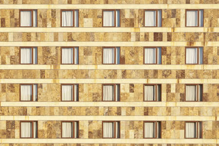 simetric: Facade of simetric windows Stock Photo