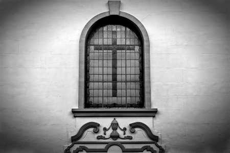 Cross  in window photo