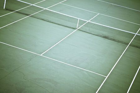 craked: Tennis court