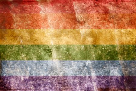 Grunge Gay Flag Stock Photo