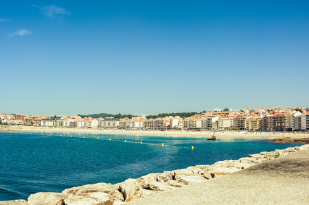 Silgar beach at Sanxenxo, Galicia, Spain