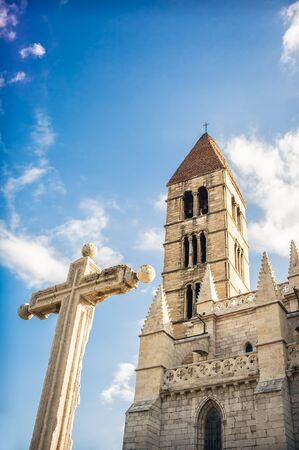 Santa Maria de la Antigua Church, Valladolid, Spain. Stock Photo