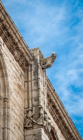 Gargoyle of Santa Maria church in Medina de Rioseco, Valladolid, Castilla y Leon, Spain Stock Photo