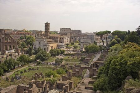 Ancient Ruins of Imperial Forum, Rome, Italy