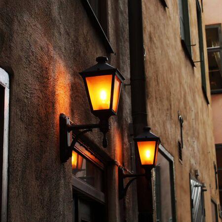 Lamp-post in Stockholm, Sweden photo