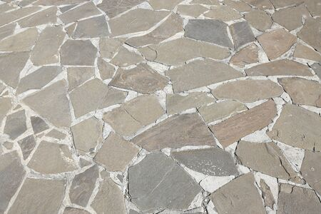 The road of flat gray stones