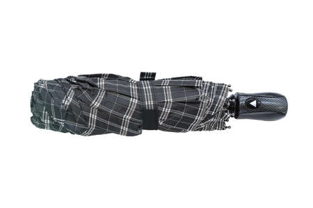 Checkered automatic umbrella without cover isolated on white background