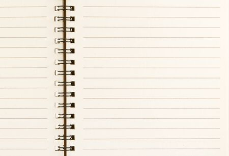 black line on empty open notebook photo