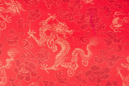 Red paper dragon pattern background photo