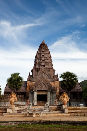 Castle Rock on blue sky background in Thailand Stock Photo - 10310275