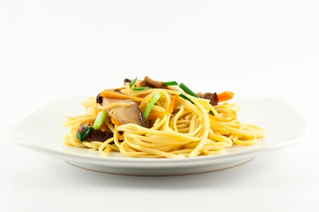 Stir fried noodles Chinese food ,it call  mein Chow Stock Photo