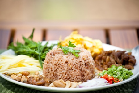 fry  rice with the shrimp paste, Thai food