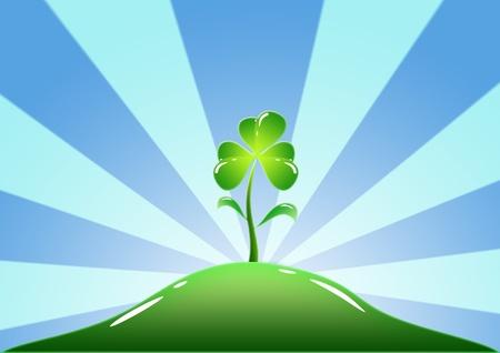 green clover vector photo